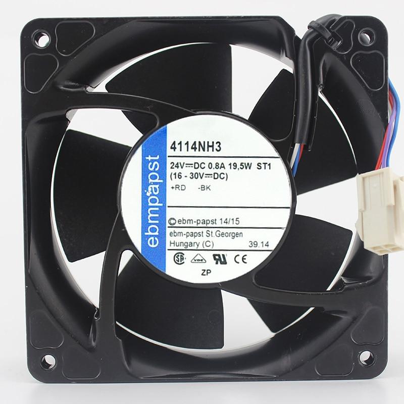 Original para PAPST 4114NH3 ventilador de refrigeración de alta potencia 120*120*38MM 24V 19,5 W inversor de servidor