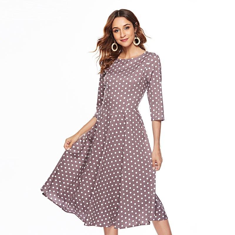 Vestido de Invierno para mujer 2018 vestidos de Año Nuevo vestido Vintage para mujer vestidos de mujer de color rosa