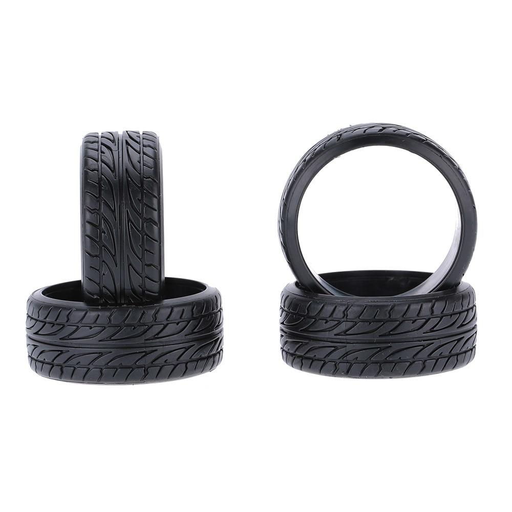 4 Pcs/set 1/10 Grain Drift Rubber Hard Tyre for Traxxas Tamiya HPI Kyosho RC Drift Model Car