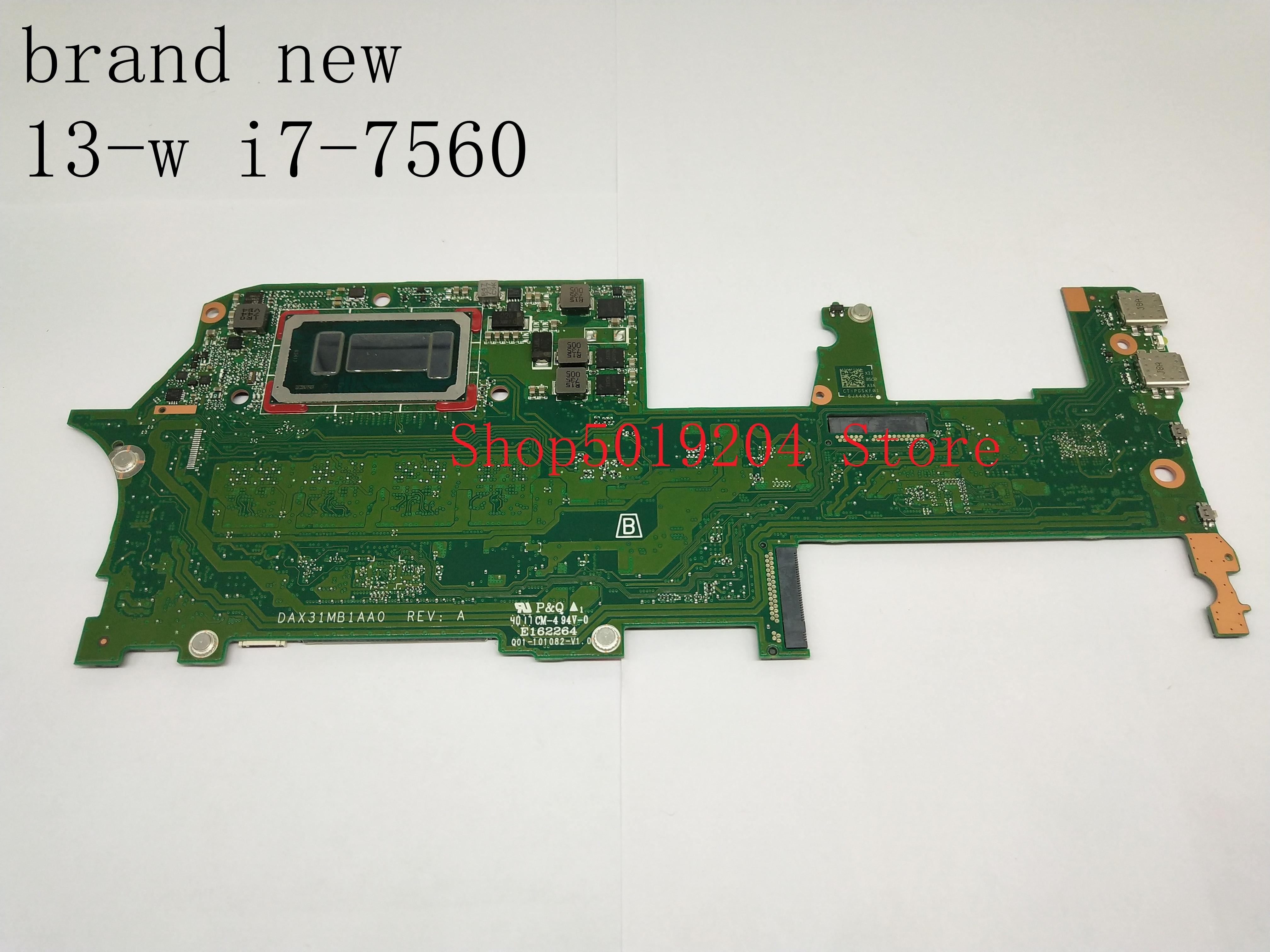 Nueva placa base para ordenador portátil HP Spectre X360 13-W 13-AC i7-7560U SR366 DAX31MB1AA0 16GB