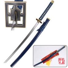 Free Shipping Bleach Anime Cosplay Sword Real Steel Katana Byakuya Kuchiki Light Blue Senbonzakura Decorative Supply