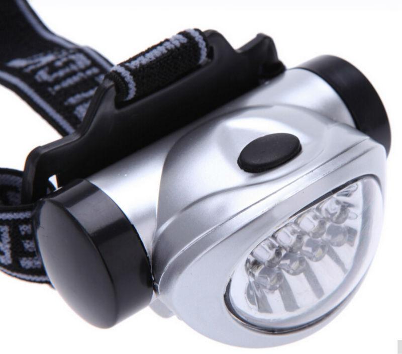 Linternas Frontales Cabeza 8 LEDs faro brillante estupendo 3 modo de ahorro de energía Camping pesca deportiva linterna lámpara de Cabeza