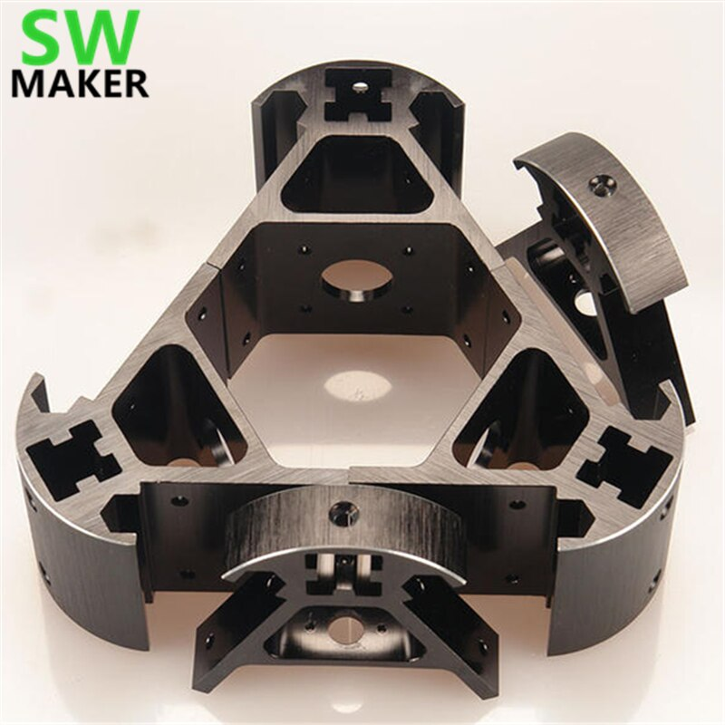 SWMAKER Colorido todo o metal 3D Kossel impressora 2020 liga de alumínio kit kit Kossel delta ângulo de canto canto Azul Laranja Vermelho ouro