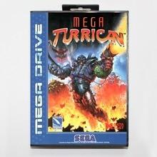 Mega turrican 16 bit SEGA MD Game Card Mit Kleinkasten Für Sega Mega Drive Für Genesis