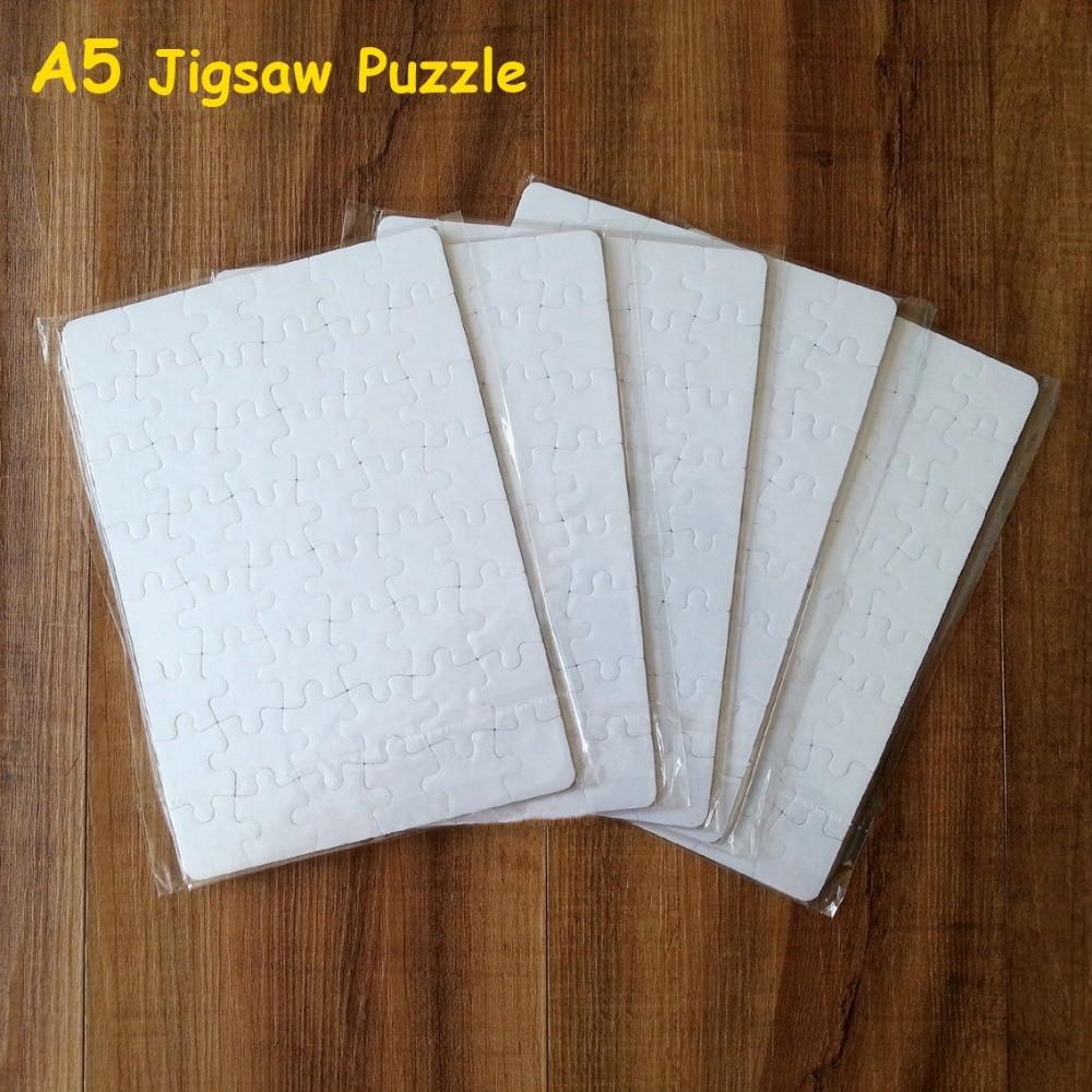 Frete grátis sublimação quebra-cabeça em branco 10 pçs/lote diy artesanato a5 quebra-cabeça para transferência de tinta sublimação