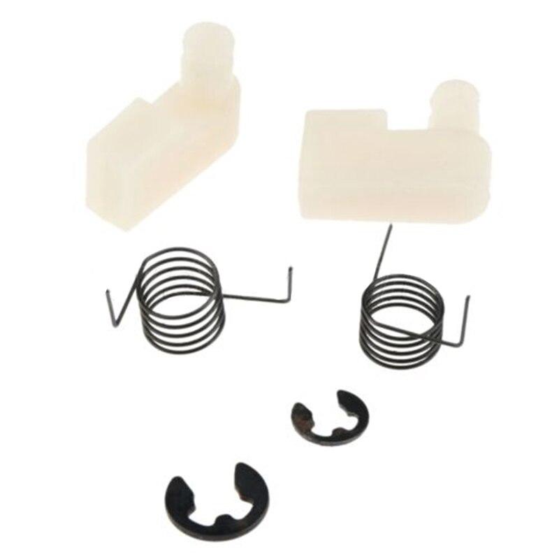 6 Teile/satz Frühling Schwungrad Starter Klinke Kit Clip Recoil Für Kettensäge 4500/5200/5800/43CC/45CC ersatz Teil Kits Kunststoff Metall