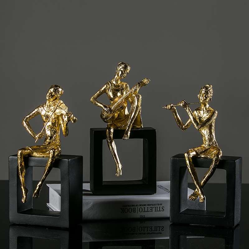Musician Figure Bust Figurine Art Sculpture Statue Resin Art&Craft Home Decoration R469