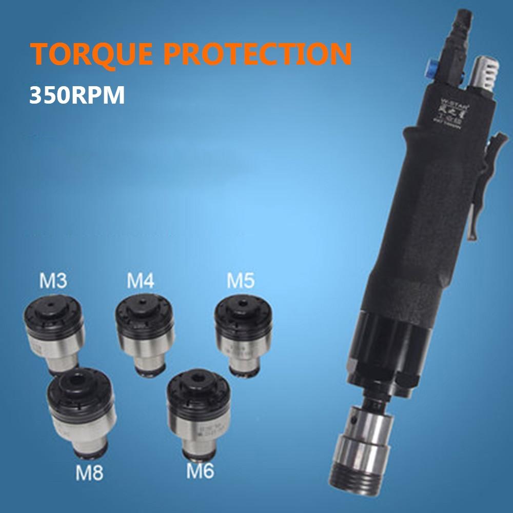 عالية السرعة الهوائية آلة التنصت عزم الدوران المحمية و 5 قطعة الطبطبات M3/M4/M5/M6/M8