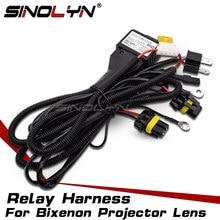 Sinolyn H4 9003 HB2 9004 9007 H13 Relais Harness Für Bi-xenon Projektor Objektiv Auto Zubehör Hohe Niedrigen Steuer verdrahtung 12V 35W/55W