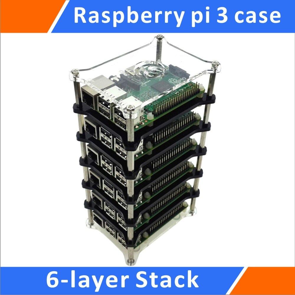 التوت بي نموذج B + 6-طبقة 3 المكدس شفافة قذيفة دعم التوت بي 2B/B +/B/A + واضح حالة