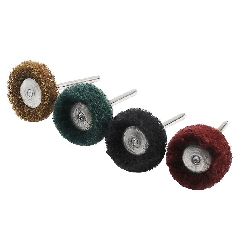 80 pezzi / set mini spazzola spugnetta abrasiva ruota abrasiva in - Utensili abrasivi - Fotografia 2
