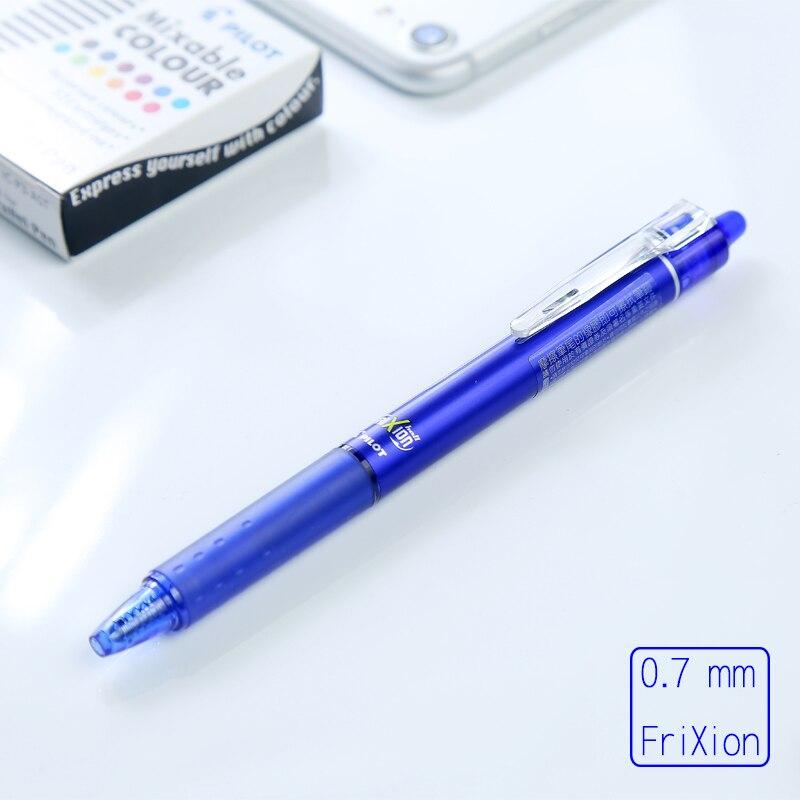 Bolígrafo japonés Pilot FriXion Ball Knock 0,7mm azul/negro/rojo bolígrafo borrable estudiante escuela papelería LFBK-23F