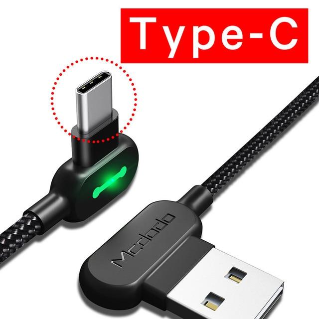 MCDODO 3 м USB кабель светодиодный кабель USB Type-C для быстрой андроид зарядное устройство Micro USB кабель для передачи данных для Huawei P40 P30 Pro Xiaomi Redmi Samsung | Мобильные телефоны и аксессуары | АлиЭкспресс