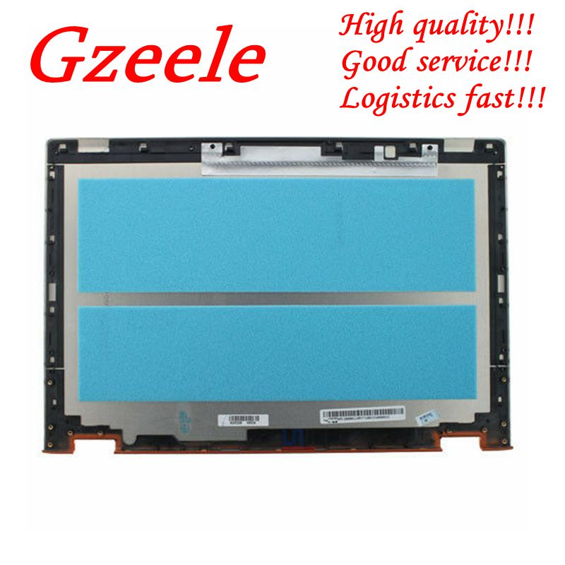 "GZEELE nuevo para Lenovo Ideapad Yoga 2 13 ""Parte superior cubierta trasera de pantalla Lcd trasera para Yoga2 13 Laptop reemplazar la cubierta AM138000110 naranja"