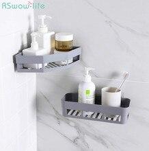 Perforation-Free Corner Rack Toilet Wash Rack Traceless Wall-Mounted Triangular Rack Receptacle Rack In Bathroom Plastic Holder