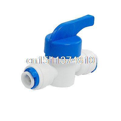 Blue Plastic Handle Elbow Type Water Tank Ball Valve