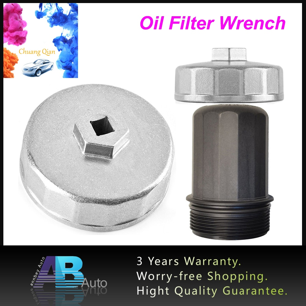 Chuang Qian 74mm 14 flauta filtro de aceite llave de la tapa de la caja de la herramienta de eliminación de zócalo para Mercedes motor M102/103/104/111/112/113/119/120