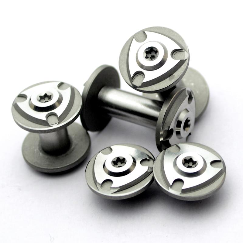 2 pares de parafusos de aço inoxidável diy faca material que faz parafusos alça t8 ferramenta lidar com parafusos de bloqueio de unhas