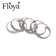 Floya romain Figure empilable rempli anneau Femme Argent anneaux intérieurs 4mm de largeur Interchangeable Original bandeau de Cocktail accessoires