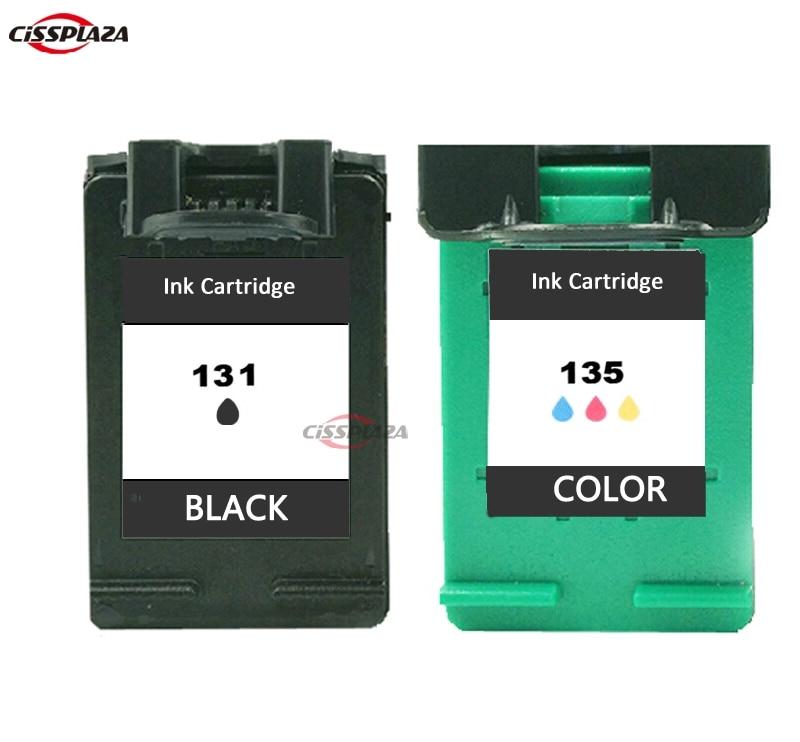 Cartuchos de tinta compatibles cisspacza 2 x para Cartucho HP131 135 para Photosmart 2710/2610/325/ PSC 2355 DeskJet 6840