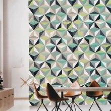 Papier peint mural 3d géométrique   Papier peint mode nordique, salon chambre à coucher, décor de maison