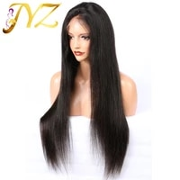 jyz human hair 13x4 lace front wigs pre plucked natural hairline with baby hair straight brazilian remy hair wigs bleached knots