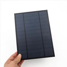 6V 1000mA 6Watt 6W Solar Panel Standard Epoxy polycrystalline Silicon DIY Battery Power Charge Module Mini Solar Cell toy