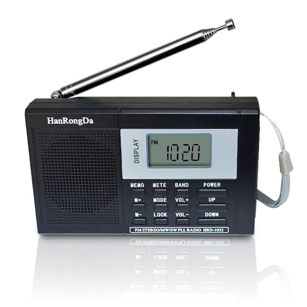 Sintonizador Digital portátil de banda completa, sintonizador estéreo de varias bandas MW/AM/FM/SW,...