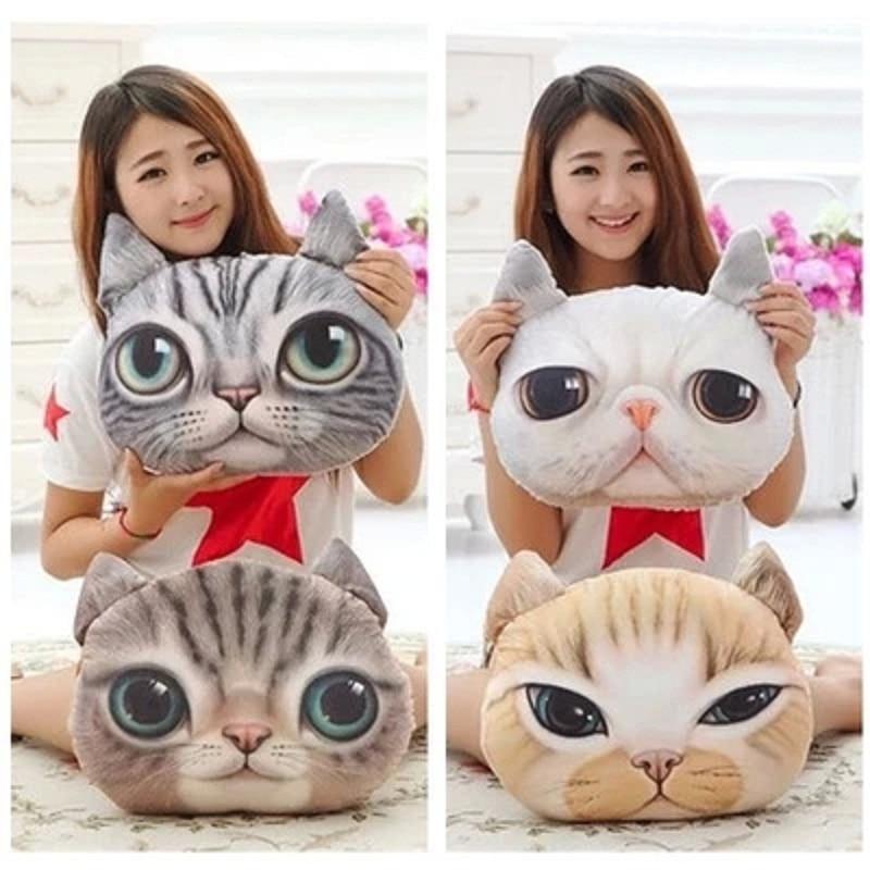 35cm*36cm 3D Cute Cartoon Animal Dog Cat Printed Car Creative  Pillow Interior Home Decor Car-styling Seat Back Cushions