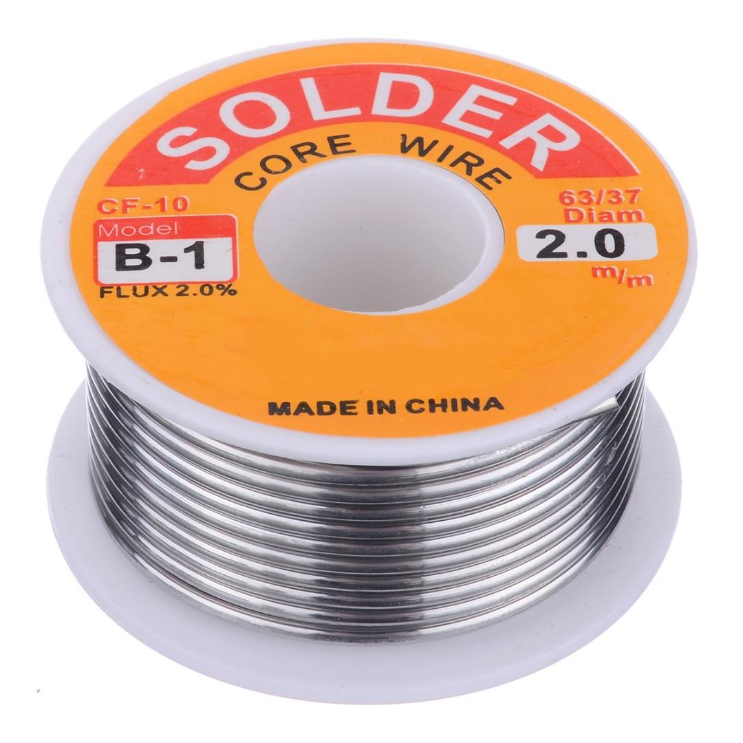 63/37 Rosin Core Welding Flux 2% Tin Lead Solder Iron Wire Reel 0.8mm/1.0mm 50g/100g For Soldering Accessories