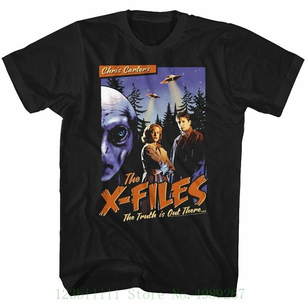 O x-files tv mostrar ficção científica t camisa do vintage cartaz preto algodão S-3xl t camisa hipster legal o pescoço topos t