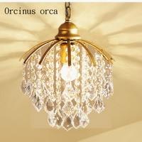 American Creative crystal chandelier single aisle porch corridor lamp Jane bar cloakroom stairs restaurant lighting