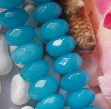 Hot 5X8mm Zuid-Amerikaanse Blue Aventurijn Facet Abacus Losse Kralen Mode-sieraden Voor Vrouwen Halfedelstenen natuursteen 15inch