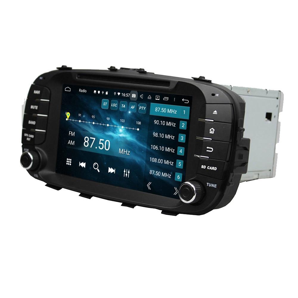 """IPS RAM de 4GB Octa Core 8 """"Android 9,0 reproductor de dvd del coche para Kia Soul 2014-2017 con Radio GPS Bluetooth WIFI USB DVR OBD espejo-enlace"""