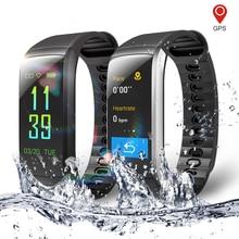 Kr02 ip68 방수 피트니스 팔찌 gps 스마트 밴드 심박수 모니터 시계 활동 추적기 3 xiao mi android ios phone