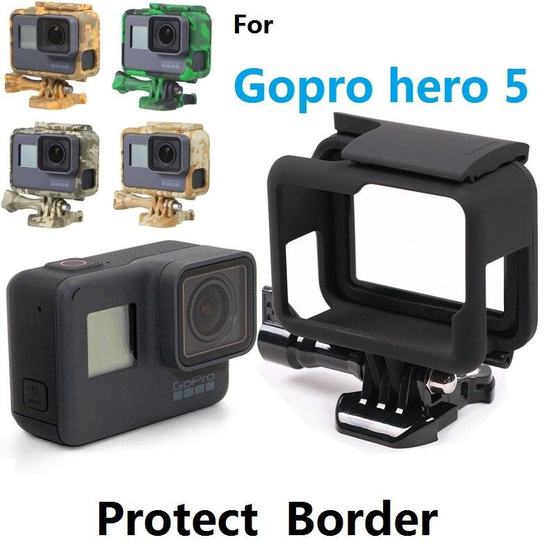 Marco borde protector esqueleto funda carcasa camuflaje bolsa esponja cubierta para GoPro Hero 7 6 5 negro accesorios de Cámara de Acción