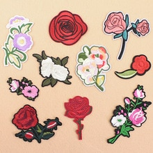 1 pcs 의류에 대 한 패치에 수 놓은 아이언 diy 줄무늬 옷 패치 워크 스티커 사용자 지정 꽃 applique