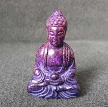 Sammlung archaize handarbeit lila jade Shakyamuni statue