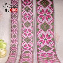 10yards * 5 cm rubans chinois Style National numérique Jacquard fleur ruban/sangle bricolage couture accessoires de rideau à la main