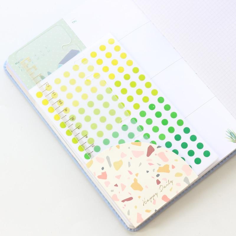 Domikee kreative selbst-adhesive aufkleber organizer inneren ecke beutel für reisenden journal notebook planer zubehör schreibwaren