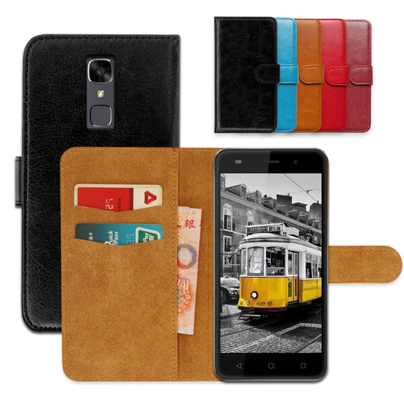 Jinga Touch 4G de lujo de cuero PU exclusiva resistente al deslizamiento Flip cartera caso para Jinga Touch 4G Ultra-Delgado teléfono caso