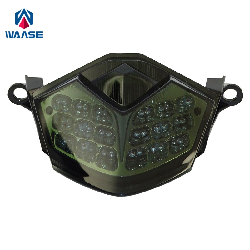 waase For Kawasaki Z750 2007-2012 / Z1000 2007 2008 2009 Chrome Rear Tail Light Brake Turn Signals Integrated LED Light