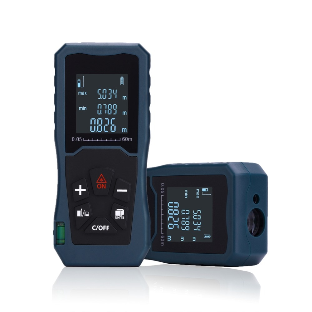 Telémetro láser 40 m/60 m/100 m Medidor Trena Medidor láser de distancia Medidor láser Medidor de rango de cinta métrica