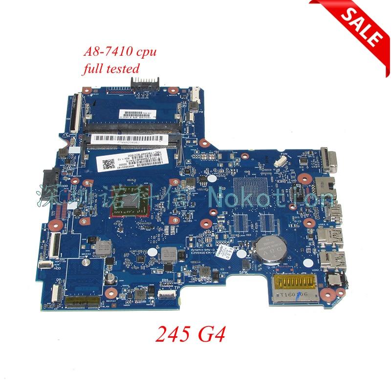 NOKOTION 814509-001 placa base para portátil HP 245 G4 A8-7410 ddr3 MENTOS10-6050A2731601-MB-A01 placa principal completa funciona