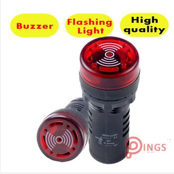 ad16 16m buzzer type indicator light signal lamp 10PCS AD16-16SM  Indicator light signal lamp Flash buzzer 12V 24V 220V 380V