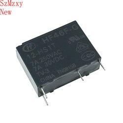 10 PCS Relé HF46F-G-12-HS1T HF46F-G 12-HS1T 12 V 7A250VAC