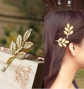 Retro Sen Departamento de Athena olive leaves estética de casamento da noiva hairpin lado grampo de cabelo acessórios Frete Grátis