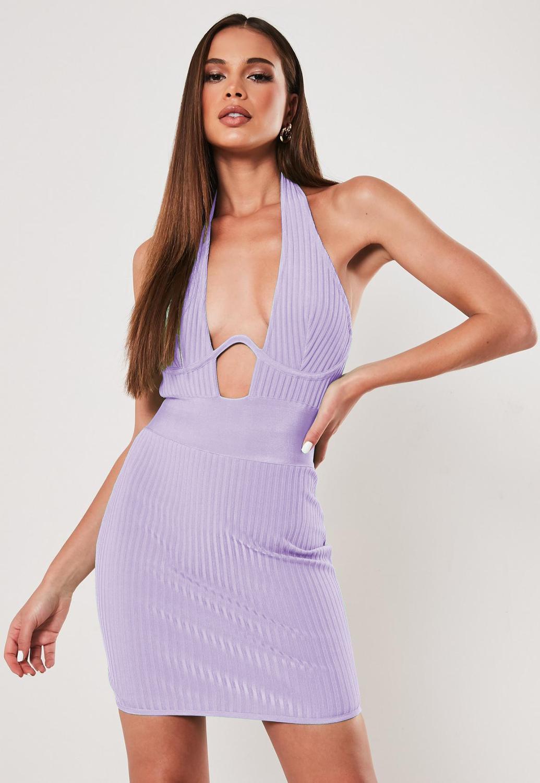 New Fashion Women Sexy Halter Orange Bandage Dress 2019 Vestidos Ladies Elegant Mini Club Party Dress Vestido