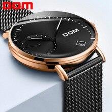 DOM Watch Men Luxury Business Gold Melt Steel Man Watch Waterproof Calendar Unique Fashion Casual Quartz Male Dress Clock M-302