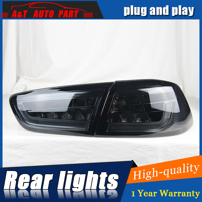Diseño de coche de Clud automático para Mitsubishi LANCER, luces traseras 2010-2012 LANCER luz trasera LED, lámpara trasera DRL + freno + aparcar + luces led de señal